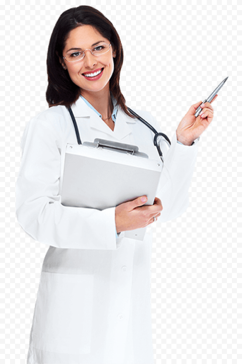 Standing Female Doctor Stethoscope Health Care