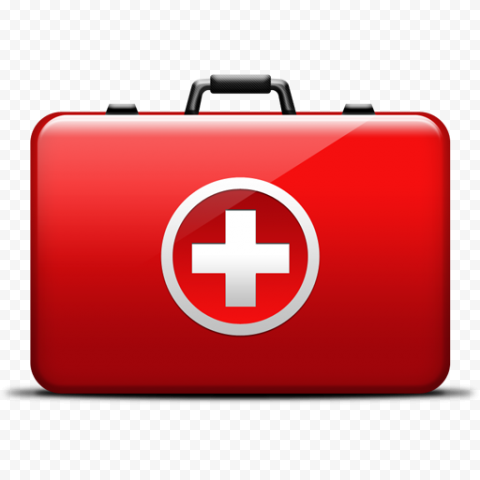Red First Aid Kit Bag Illustration Computer Icon