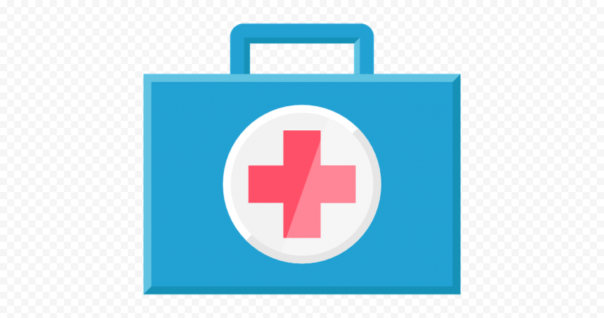 Medical Blue First Aid Bag Computer Icon