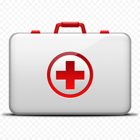 White Illustration Emergency Doctor First Aid Bag