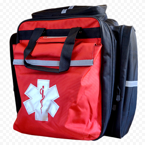 Red Emergency Medical Backpack First Aid
