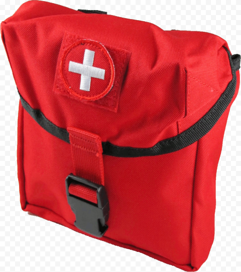 Red Medical Emergency Back Bag First Aid