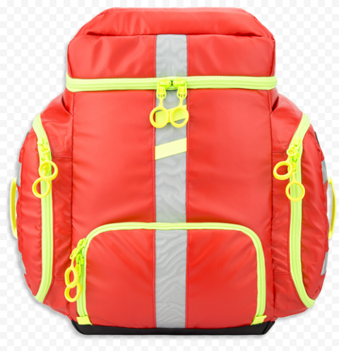 Red Yellow Fluo Emergency Back Bag First Aid