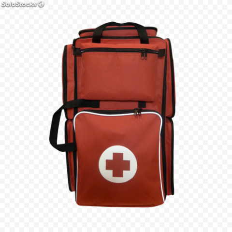 Dark Red Emergency Medical Backpack First Aid
