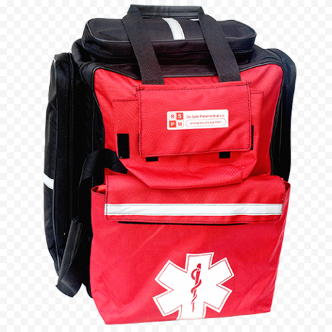 Red & Black Emergency Medical Backpack First Aid