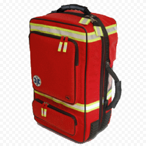 Red & Yellow Fluo Emergency Backpack First Aid