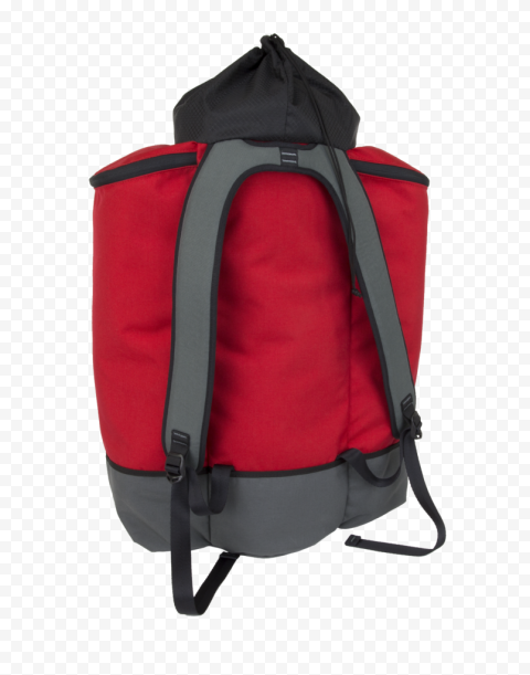 Back View Red Emergency Backpack First Aid