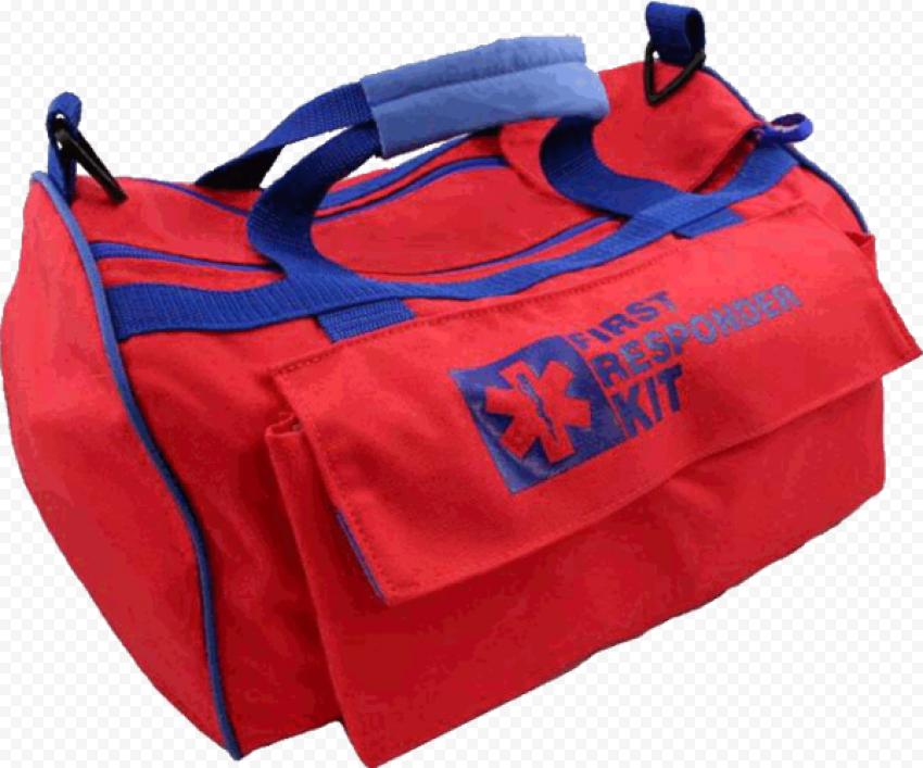 Medical Emergency First Aid Kit Red Handbag