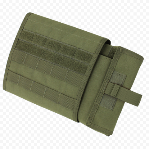 Opened Green Military First Aid Kit