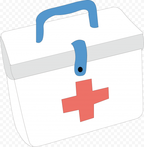 Cartoon First Aid Kit Medical Box Drawing Icon