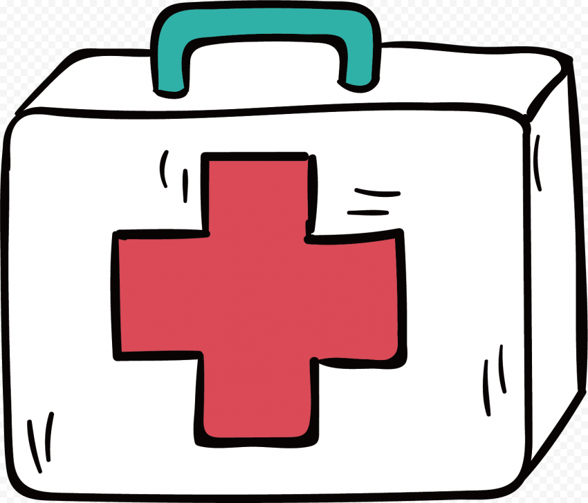 Cartoon First Aid Kit Emergency Box Drawing Icon