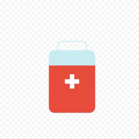 Cartoon Flat First Aid Kit Medical Box Icon