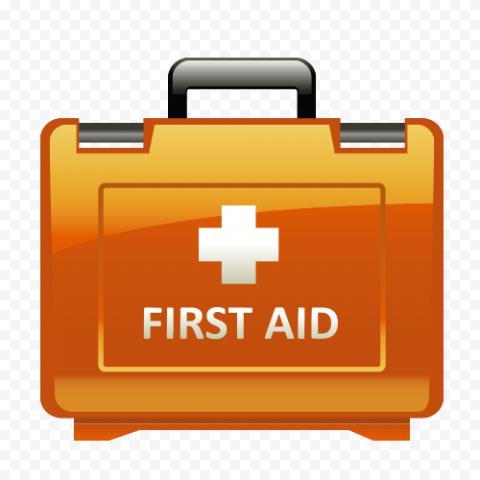 Orange Illustration First Aid Kit Handbag Icon