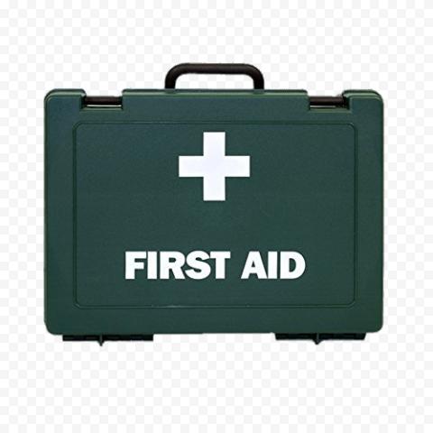 Dark Green Illustration First Aid Kit Handbag Icon