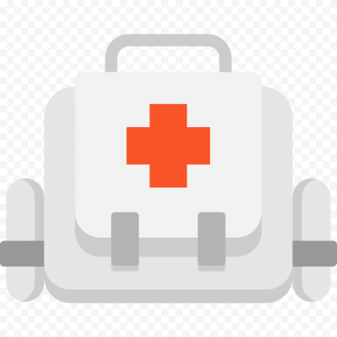 Flat White First Aid Medical Kit Handbag Icon