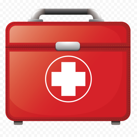 Illustration Red First Aid Medical Kit Handbag