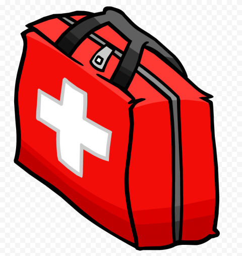 Red Cartoon First Aid Kit Emergency Handbag