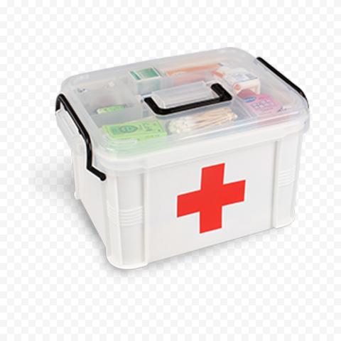 Plastic White First Aid Kit Emergency Medical Box
