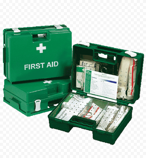 Group Of Green Plastic First Aid Kit Handbags