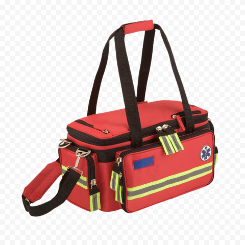 Red Rescue Medical Emergency First Aid Kit Bag