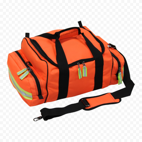 Orange Rescue Medical Emergency First Aid Kit Bag