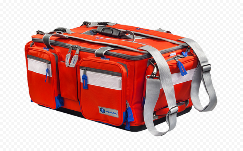 Red Medical Emergency Rescue First Aid Real Bag