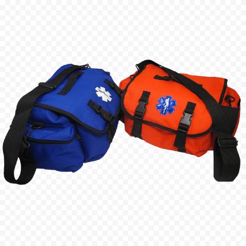 Orange And Blue Medical Emergency First Aid Bag
