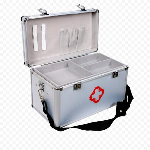 Metal Gray First Aid Kit Emergency Medical Box