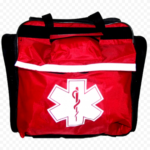 Red Medicine Emergency Help First Aid Real Bag