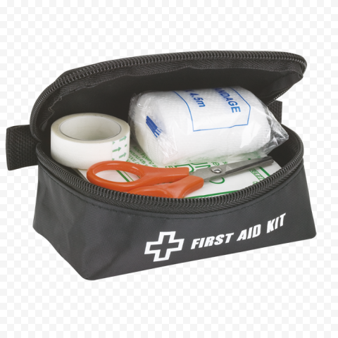 Opened First Aid Kit Medicine Supplies Bandage