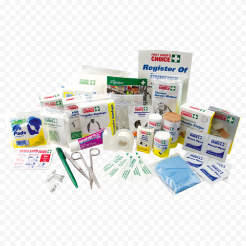 Group Of First Aid Medicine Emergency Supplies