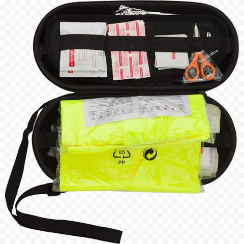 Black Small First Aid Bag With Medical Supplies