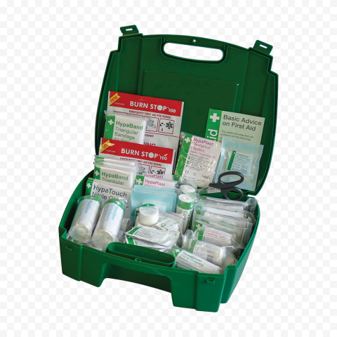 Opened Green Evolution First Aid Handbag Emergency