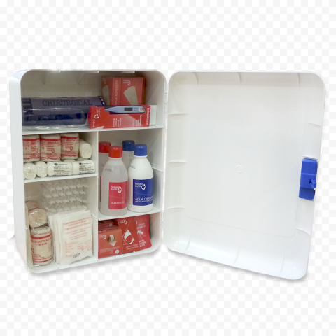 Plastic Home First Aid Box With Medicine Supplies