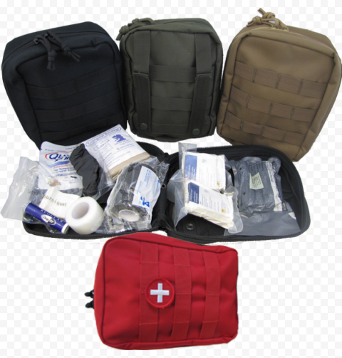Opened Backpack & Bags First Aid Kit Emergency
