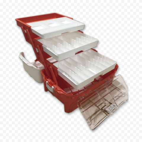 Empty Plastic First Aid Opened Box Emergency