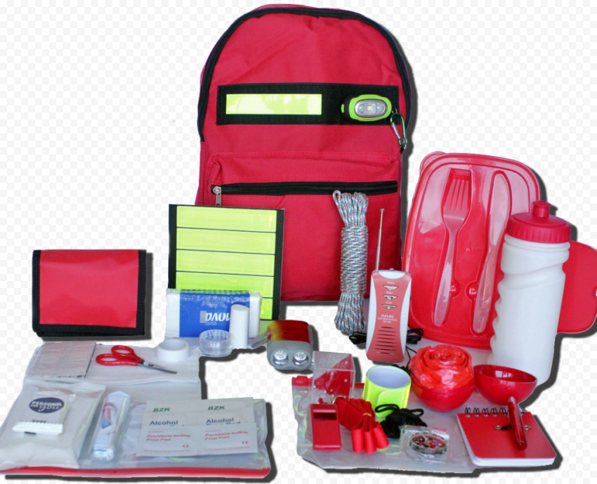 Red Survival Kit Equipement