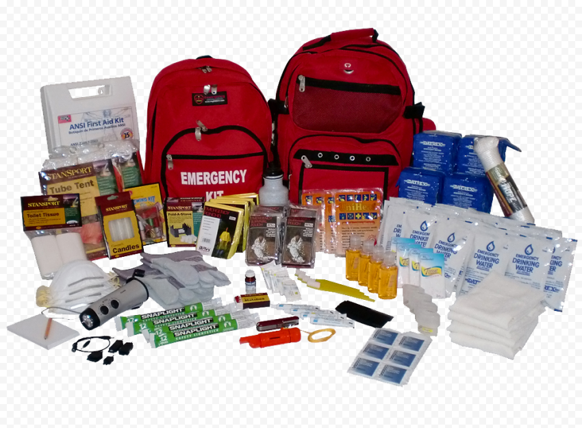 Survival Kit & First Aid Emergency Bag
