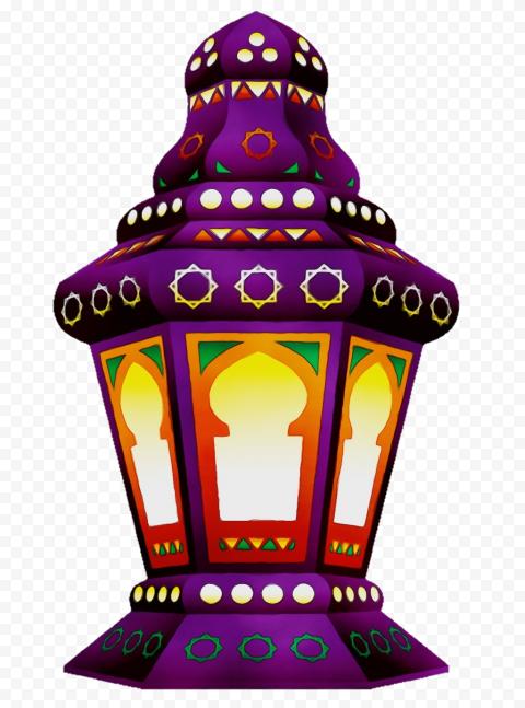 Purple Ramadan Lantern Illustration فانوس رمضان