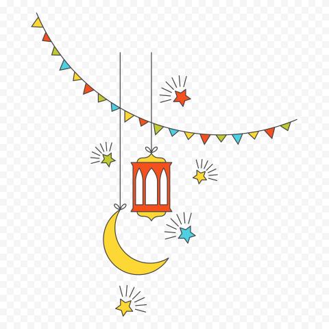 Hanging Vector Ramadan Lantern Moon Decoration