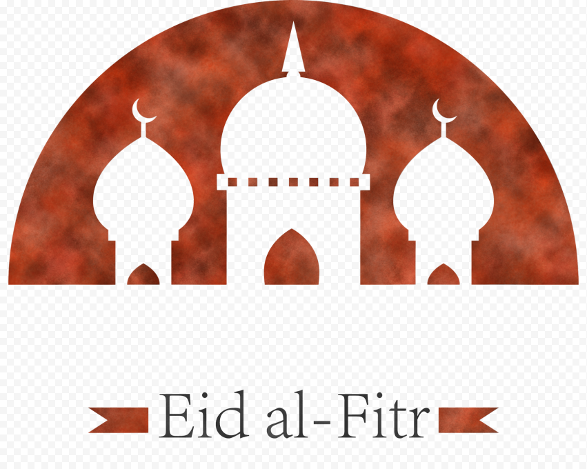 English Brown Mosque Eid Al Fitr Logo Design