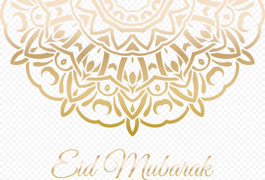 Gold Arabic Geometric Pattern Eid Mubarak Design