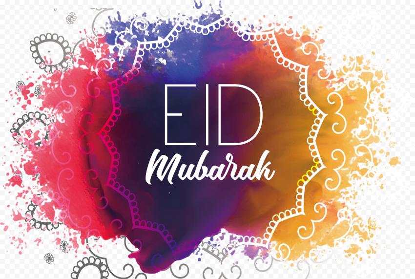 English Eid Mubarak Colorful Traditional Design