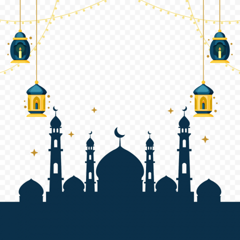 Islamic Background Mosque Vector Ramadan Lanterns