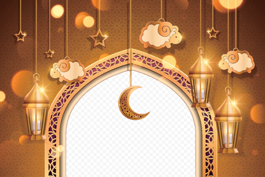 Gold Islamic Holidays Background Illustration