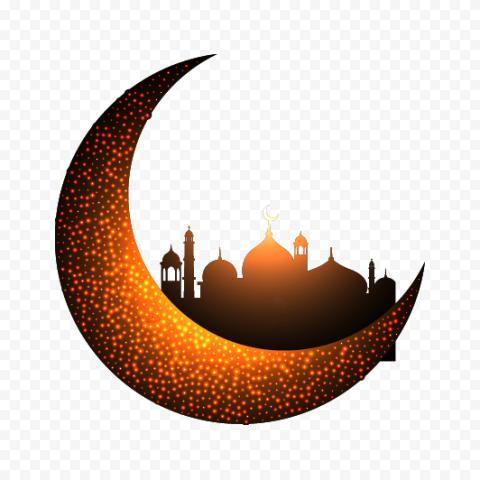 Creative Crescent Ramadan Moon Mosque Illustration