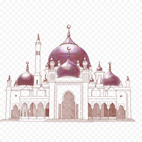 Islamic Masjid Mosque Vector Drawing Art