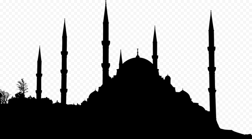 Islamic Black Silhouette Masjid Mosque Shape
