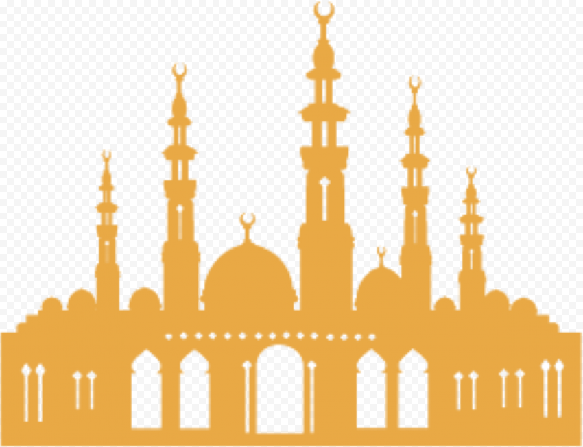 Islamic Brown Shape Masjid Mosque Vector