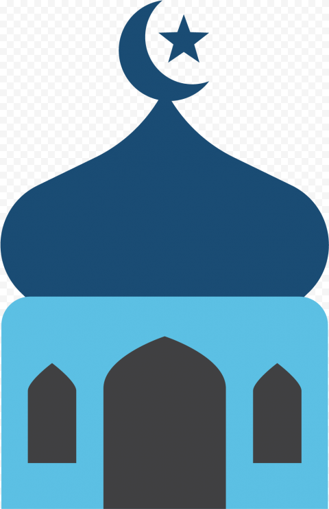 Vector Flat Islamic Mosque Dome Illustration Icon